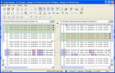 Araxis File Comparison Window