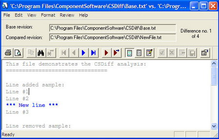 CSDiff File Comparison Window