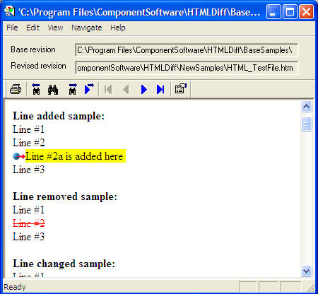 HTMLDiff File Comparison Window
