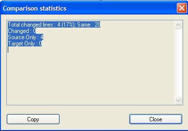 Compare It! Statistics Pane