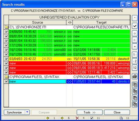 Synchronize it! main window