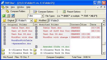 DiffDoc Folder Compare