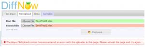 Error message in DiffNow